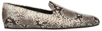 Vince Paz Snakeskin-Embossed Leather Loafers