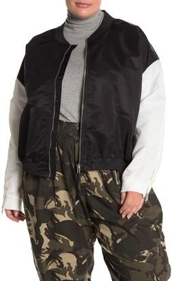 City Chic Noir Blanc Jacket (Plus Size)