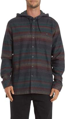 Billabong Baja Stripe Button-Up Flannel Hoodie