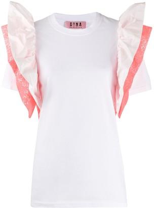Gina ruffle sleeve T-shirt