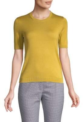 Max Mara Ribbed Short-Sleeve Sweater