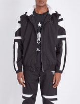 Boy London Eagle hooded shell bomber jacket