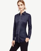 Ann Taylor Petite Tipped Perfect Shirt