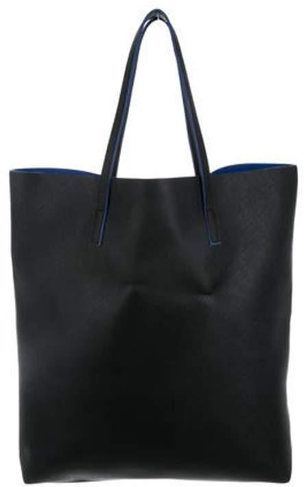 Max Mara Leather Tote Bag Black Leather Tote Bag