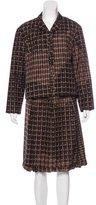 Prada Silk Knee-Length Skirt Suit