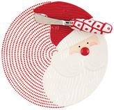 Mud Pie Red Santa Ticking Cheese Plate & Spreader Set