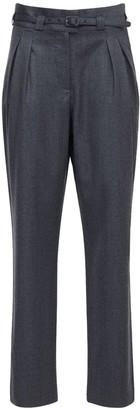 A.P.C. Joan Wool Flannel Straight Pants