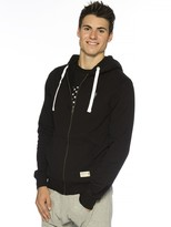 Peace Love World I am Gentleman Black Zip Hoodie