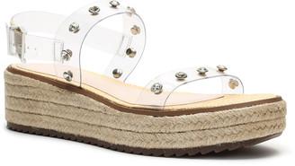 Schutz Cristiane Studded Vinyl Espadrille Sandals