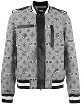 Kokon To Zai monogram print bomber jacket - men - Polyester - M