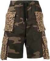 Ports V leopard-and-camo cargo shorts