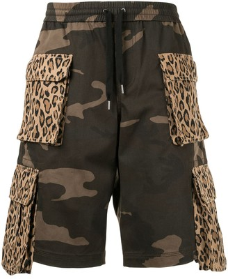 Ports V Leopard-And-Camo Cargo Shorts