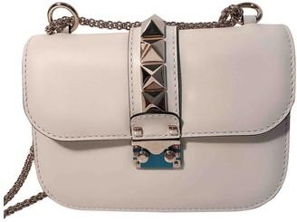 Valentino Glam Lock White Leather Handbags