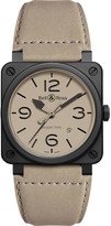 Bell & Ross Aviation BR 03-92 ceramic desert type watch