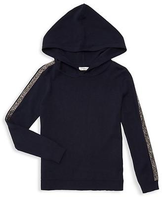 Pinc Premium Little Girl's Girl's Embellished Hooded Sweater