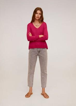 MANGO Fine-knit sweater fuchsia - S - Women