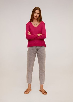 MANGO Fine-knit sweater light/pastel grey - S - Women