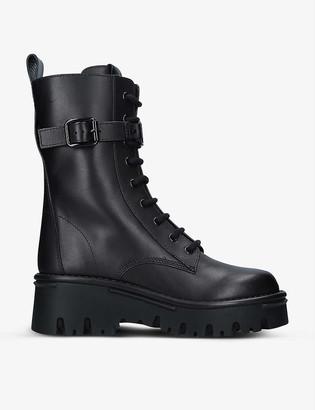 Valentino Campsite VLOGO leather combat boots