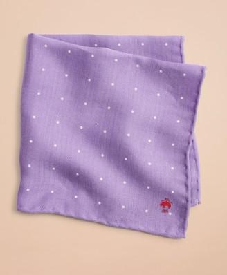 Brooks Brothers Silk-Blend Polka-Dot Pocket Square