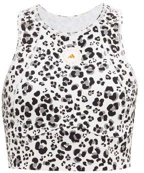 adidas by Stella McCartney Truepurpose Recycled Fibre-blend Crop Top - Animal