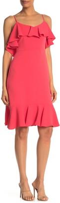 trina Trina Turk Mosey Ruffled Sleeveless Flounce Dress