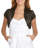 I.N. San Francisco Satin Bolero Jacket Shrug