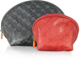 Gherardini Signature Fabric Softy Small & Mini Cosmetic Case Set
