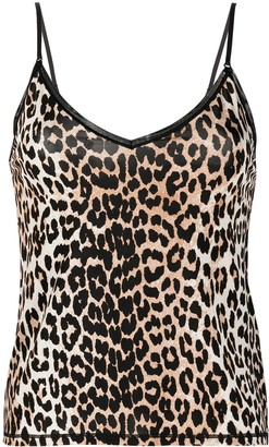 Ganni Leopard-Print Cami Top