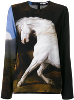 Stella McCartney Running Horse print top - women - Silk/Spandex/Elastane/Viscose - 38
