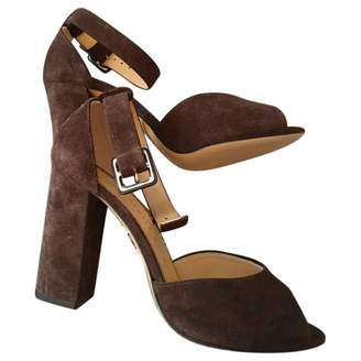 Charlotte Olympia Brown Suede Sandals