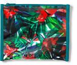 Lands' End Vinyl Print Large Pouch-Tropical Floral