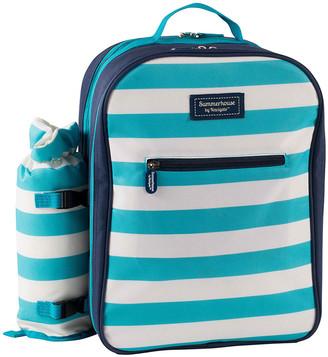 Navigate - Coast Four Person Picnic Backpack - Aqua/White
