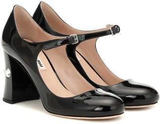 Miu Miu Patent-leather Mary Jane pumps