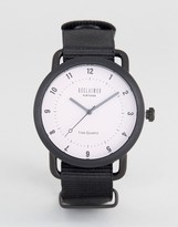 Reclaimed Vintage Inspired Black Canvas Watch