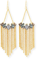 Alexis Bittar Navette Fringe Chandelier Earrings