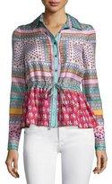 Diane von Furstenberg Ivanka Zen Scarf Silk Top, Multicolor