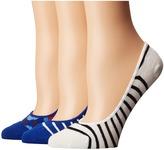 Kate Spade Tangier Floral 3-Pack Liner Women's Low Cut Socks Shoes