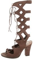 Roberto Cavalli Suede Lace-Up Sandals