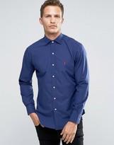 Polo Ralph Lauren Poplin Slim Fit Shirt In Navy