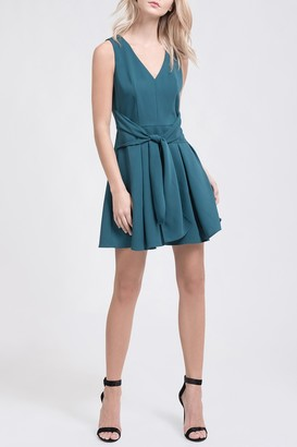 J.o.a. Front Tie Flare Mini Dress