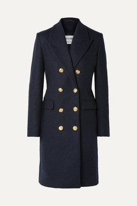 RE/DONE 60s Double-breasted Wool-blend Coat - Navy