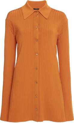 Joseph Beth Ribbed-Knit Button-Front Top