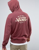 Vans Off The Wall Oversized Pullover Hoodie In Red VA2WFK4QU
