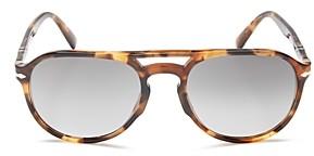 Persol Men's Polarized Aviator Sunglasses, 55mm