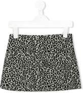 Il Gufo leopard print mini skirt