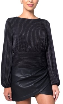Kit & Sky Metallic Ribbed Top