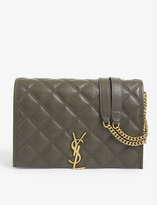Saint Laurent Becky mini quilted leather shoulder bag
