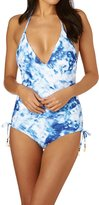 Seafolly Caribbean Ink Deep V Swimsuit