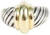 David Yurman Sterling Silver and 14K Yellow Gold Ring Size 6.75