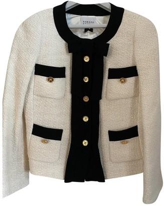 Edward Achour Beige Wool Jacket for Women